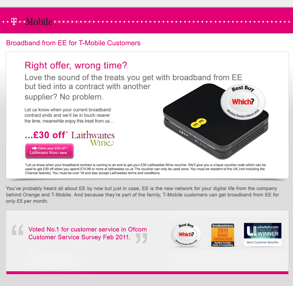 T-Mobile – Right Offer Wrong Time